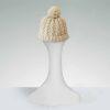 cable knit cap, cream ski cap