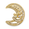 Vintage Dior crescent moon pin