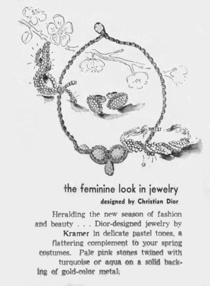 Kramer dior jewelry ad