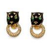 ciner panther earrings