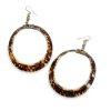 vintage cowrie shell earrings