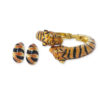 Kenneth Jay Lane tiger jewelry set