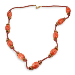 vintage glass bead necklace by yves saint laurent
