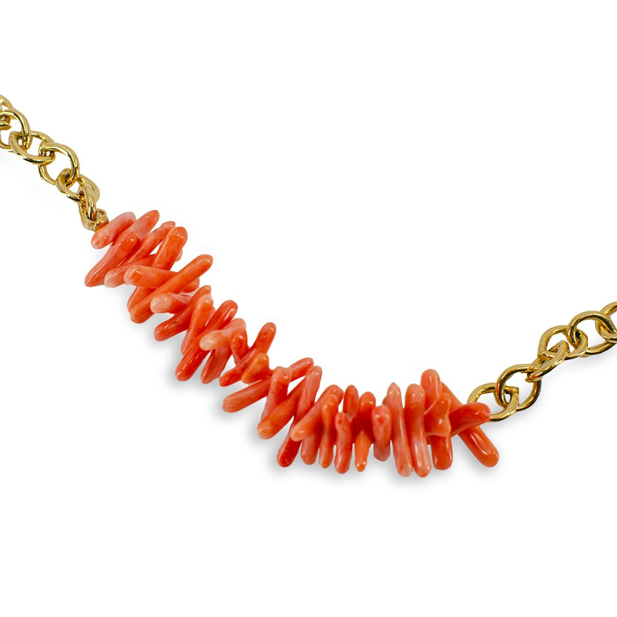 faux coral necklace