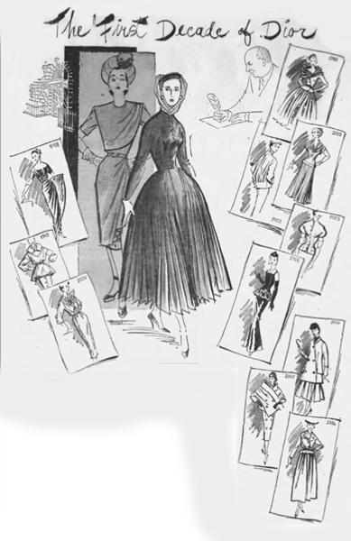 HIstory of dior fashion