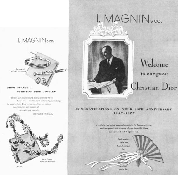 Christian Dior I magnin ad 1957