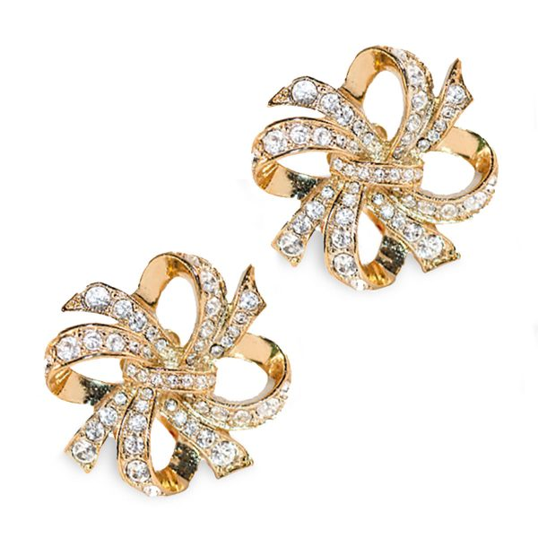 KJL Avon Bow Earrings alt