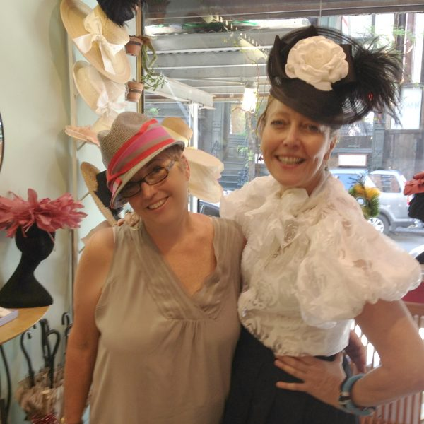 Linda in her best finer and I in my new Hat!